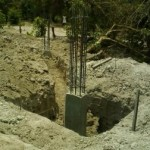 Excavation for 9 inches thick retaining wall1